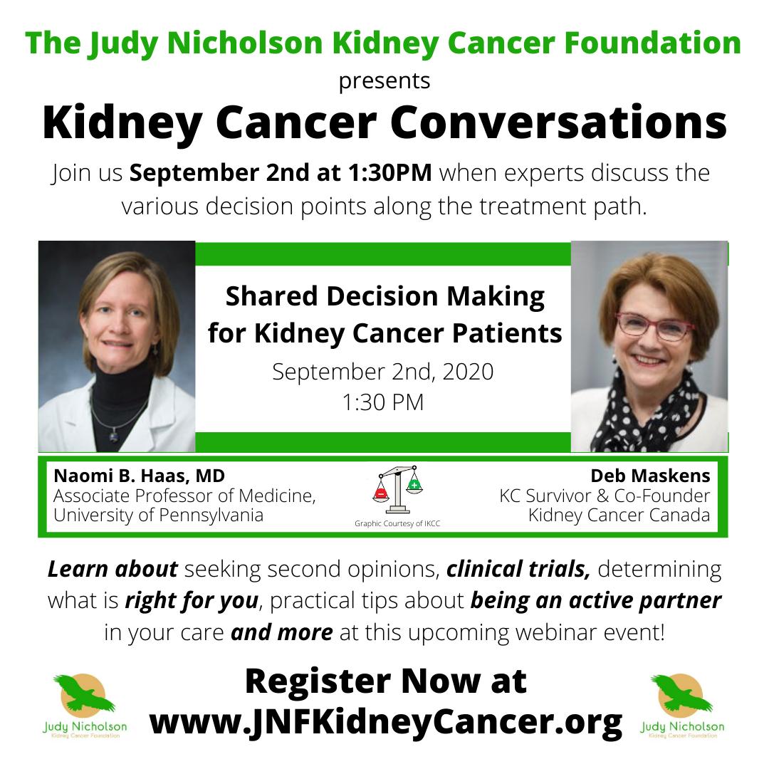 Webinar Judy Nicholson Kidney Cancer Foundation