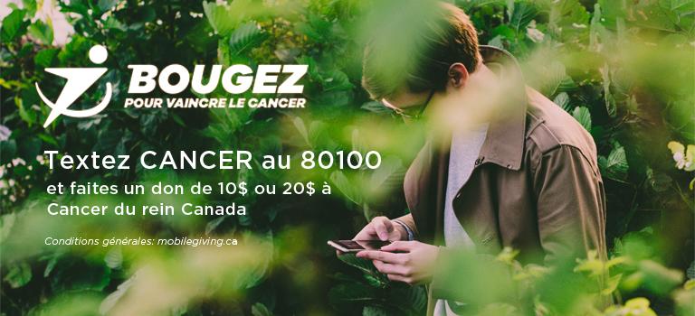 Bougez pour vaincre le cancer - don par texto