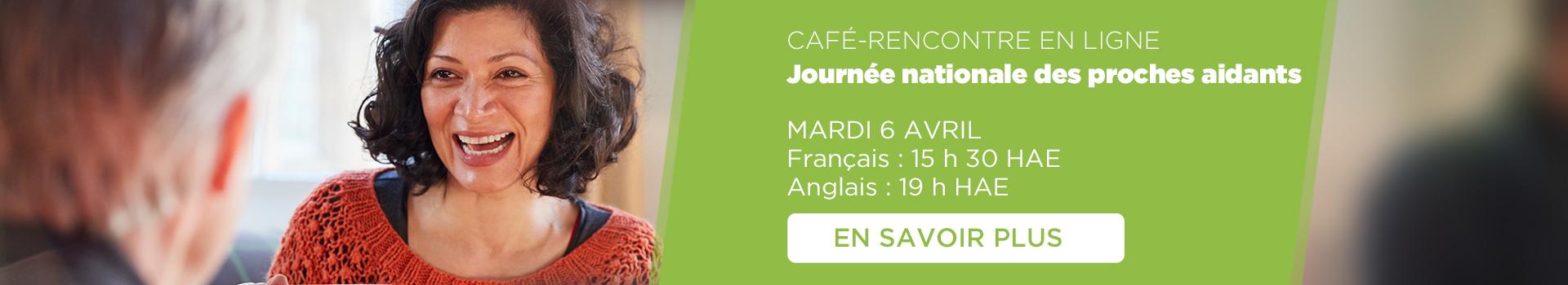 Cancer du rein Canada : Café-renoontre pour les aidant - 6 avril 2021